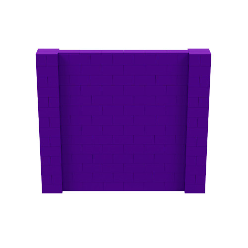 8' x 7' Purple Simple Block Wall Kit