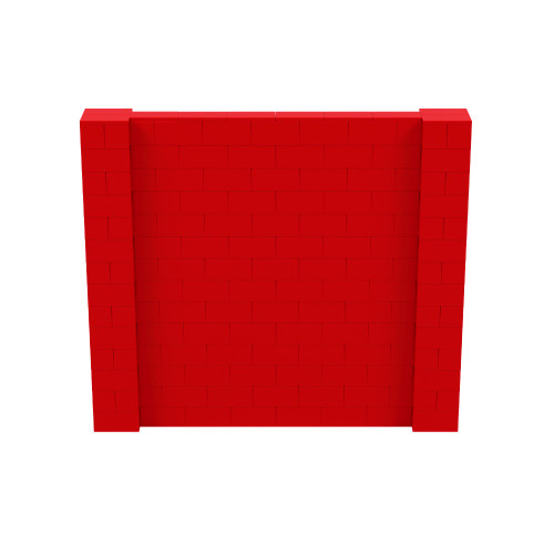8' x 7' Red Simple Block Wall Kit