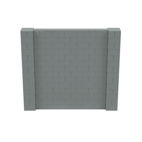 8' x 7' Silver Simple Block Wall Kit
