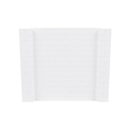 8' x 7' White Simple Block Wall Kit