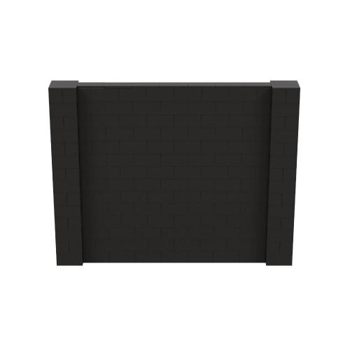 9' x 7' Black Simple Block Wall Kit