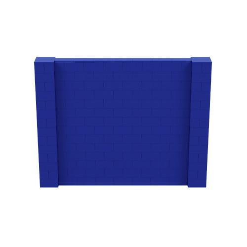 9' x 7' Blue Simple Block Wall Kit