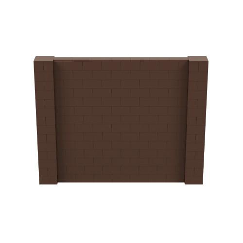 9' x 7' Brown Simple Block Wall Kit