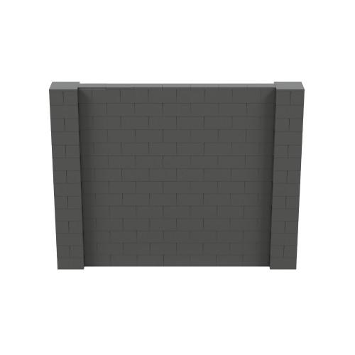 9' x 7' Dark Gray Simple Block Wall Kit
