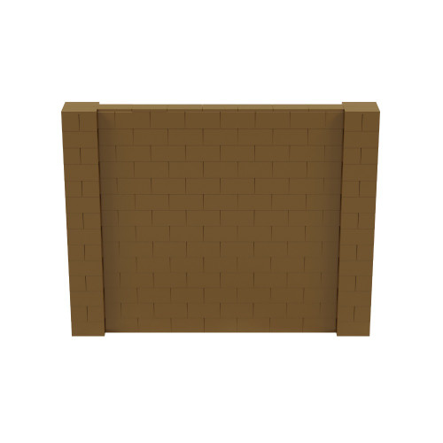 9' x 7' Gold Simple Block Wall Kit