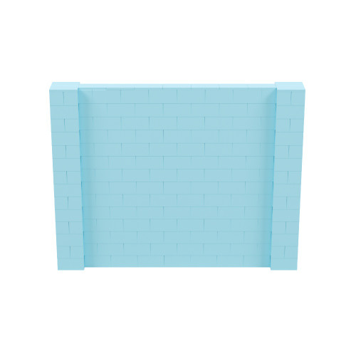 9' x 7' Light Blue Simple Block Wall Kit