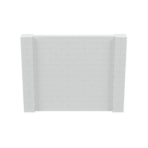 9' x 7' Light Gray Simple Block Wall Kit