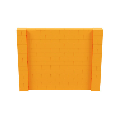 9' x 7' Orange Simple Block Wall Kit