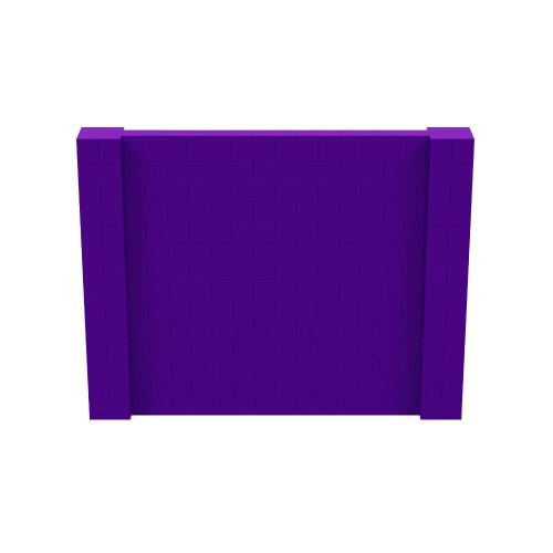 9' x 7' Purple Simple Block Wall Kit