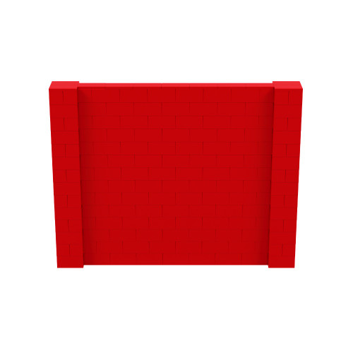 9' x 7' Red Simple Block Wall Kit