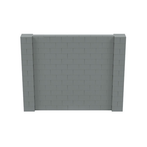 9' x 7' Silver Simple Block Wall Kit
