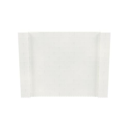 9' x 7' Translucent Simple Block Wall Kit
