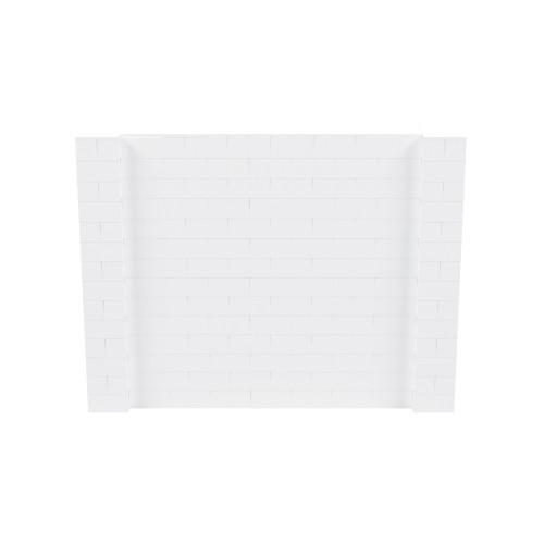 9' x 7' White Simple Block Wall Kit