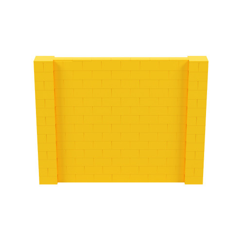 9' x 7' Yellow Simple Block Wall Kit