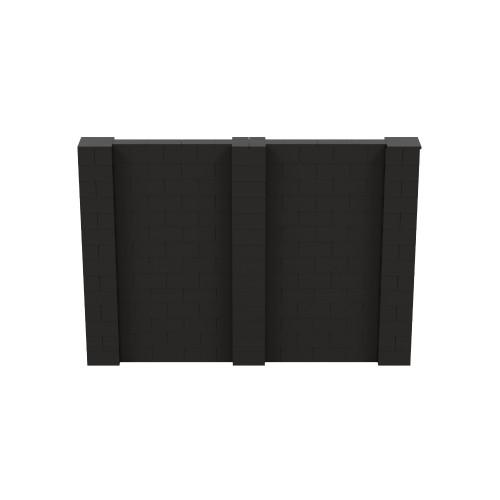 10' x 7' Black Simple Block Wall Kit