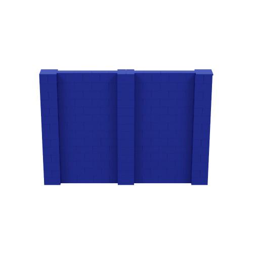 10' x 7' Blue Simple Block Wall Kit