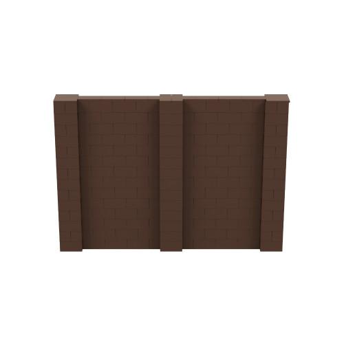 10' x 7' Brown Simple Block Wall Kit