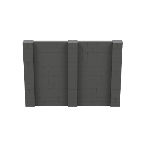 10' x 7' Dark Gray Simple Block Wall Kit