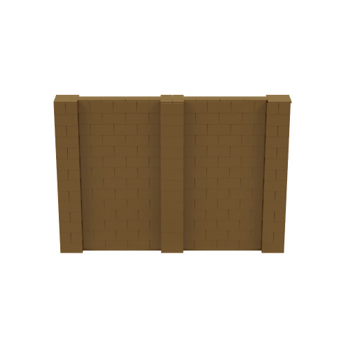 10' x 7' Gold Simple Block Wall Kit