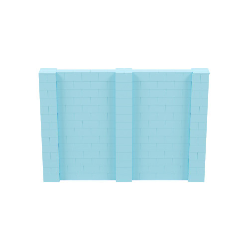 10' x 7' Light Blue Simple Block Wall Kit