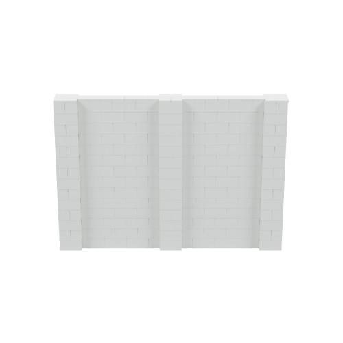 10' x 7' Light Gray Simple Block Wall Kit