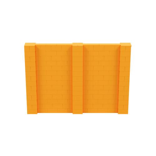 10' x 7' Orange Simple Block Wall Kit