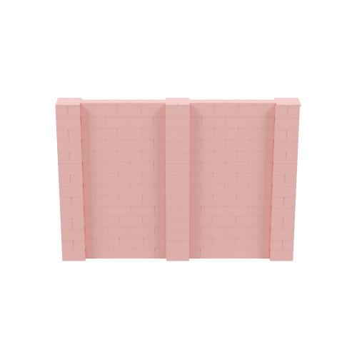 10' x 7' Pink Simple Block Wall Kit