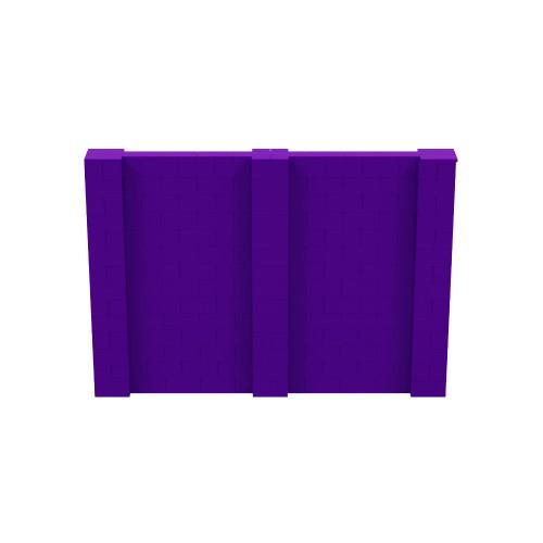 10' x 7' Purple Simple Block Wall Kit