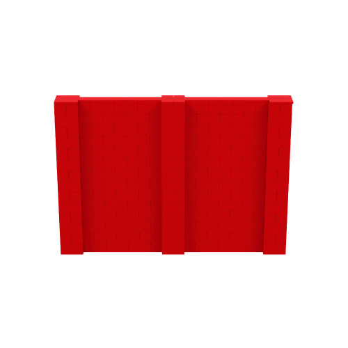 10' x 7' Red Simple Block Wall Kit