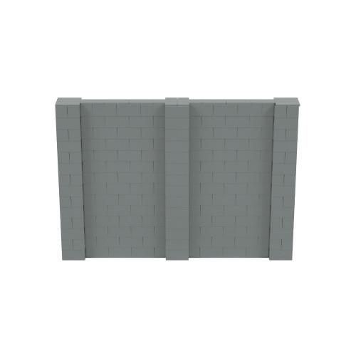10' x 7' Silver Simple Block Wall Kit