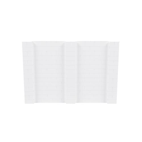 10' x 7' White Simple Block Wall Kit