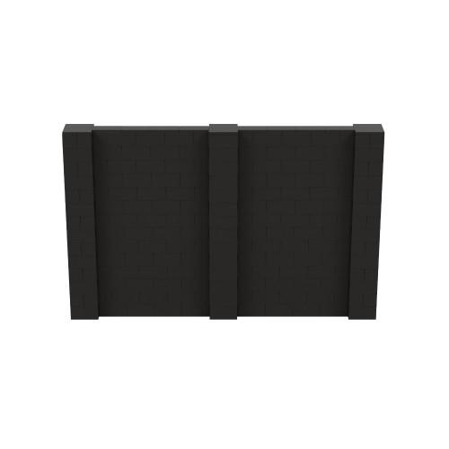 11' x 7' Black Simple Block Wall Kit