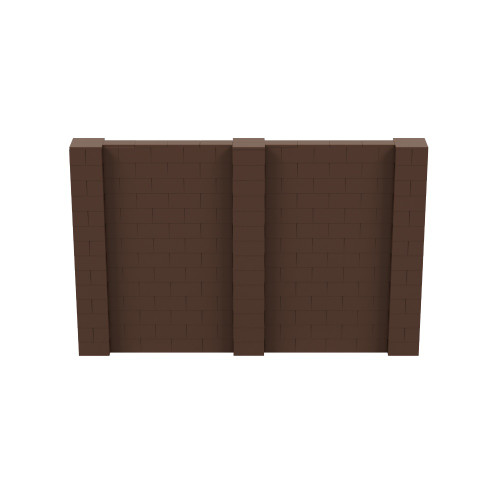 11' x 7' Brown Simple Block Wall Kit