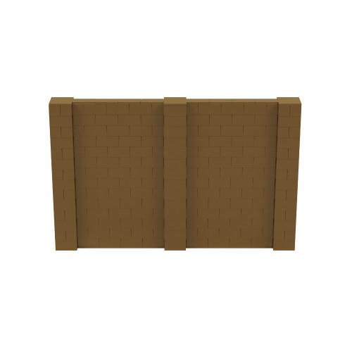 11' x 7' Gold Simple Block Wall Kit
