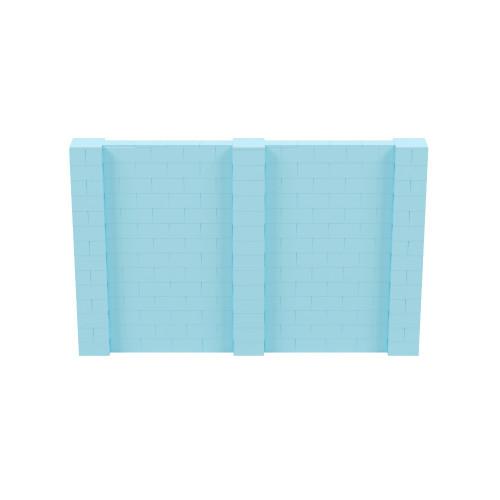 11' x 7' Light Blue Simple Block Wall Kit