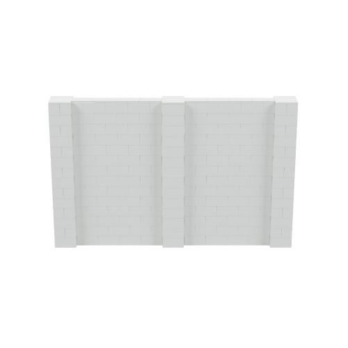 11' x 7' Light Gray Simple Block Wall Kit