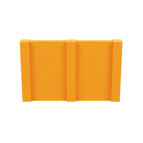 11' x 7' Orange Simple Block Wall Kit