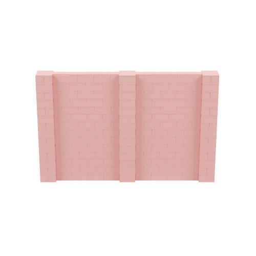 11' x 7' Pink Simple Block Wall Kit