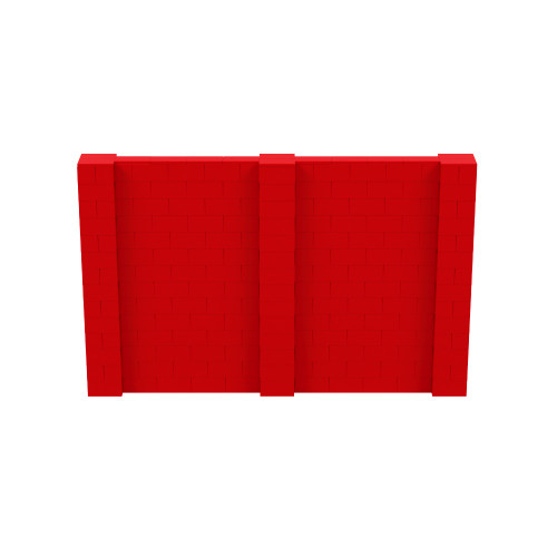 11' x 7' Red Simple Block Wall Kit