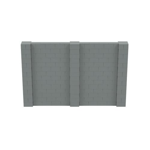 11' x 7' Silver Simple Block Wall Kit