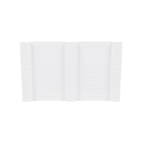 11' x 7' White Simple Block Wall Kit