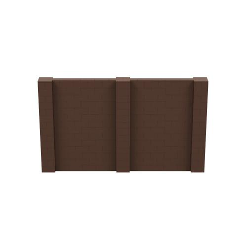12' x 7' Brown Simple Block Wall Kit