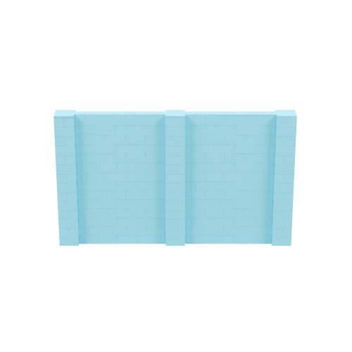 12' x 7' Light Blue Simple Block Wall Kit