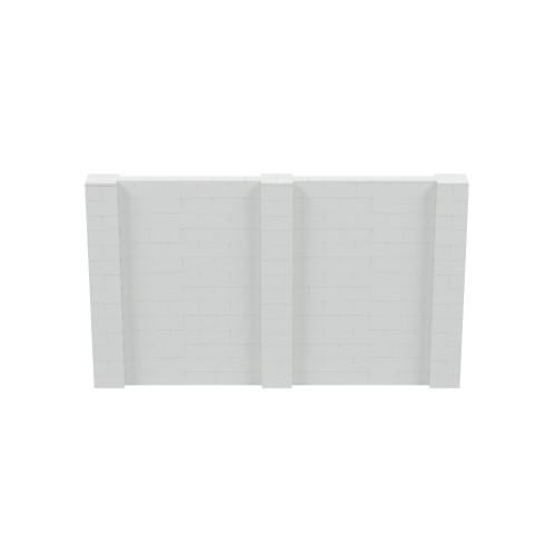 12' x 7' Light Gray Simple Block Wall Kit