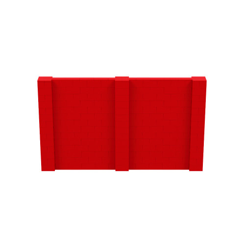 12' x 7' Red Simple Block Wall Kit