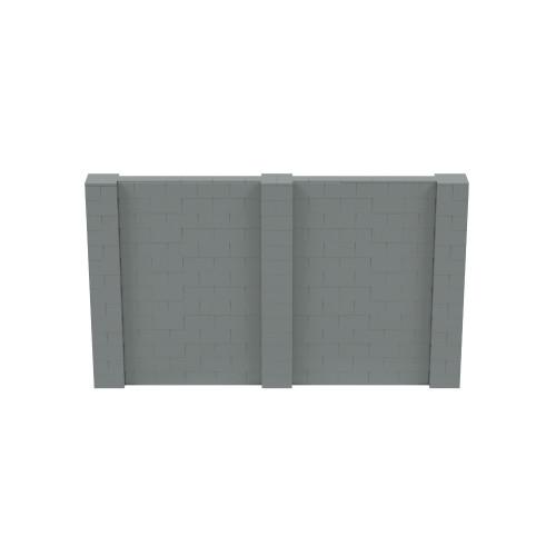 12' x 7' Silver Simple Block Wall Kit