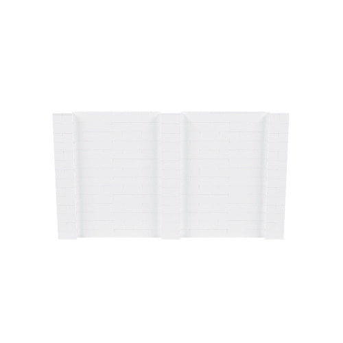 12' x 7' White Simple Block Wall Kit