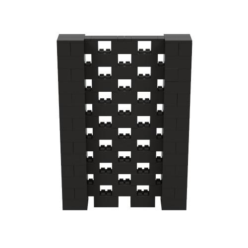 5' x 7' Black Open Stagger Block Wall Kit