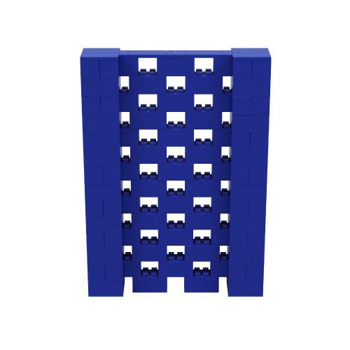 5' x 7' Blue Open Stagger Block Wall Kit