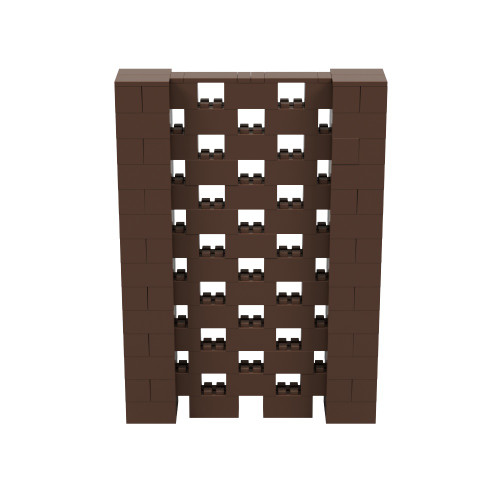 5' x 7' Brown Open Stagger Block Wall Kit